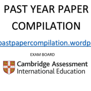 Biology 0610 – IGCSE Past Year Paper Compilations